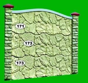 Ogrodzenie betonowe zestaw nr 17