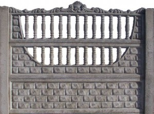 Ogrodzenie betonowe zestaw nr 10