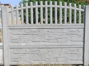 Ogrodzenie betonowe zestaw nr 25